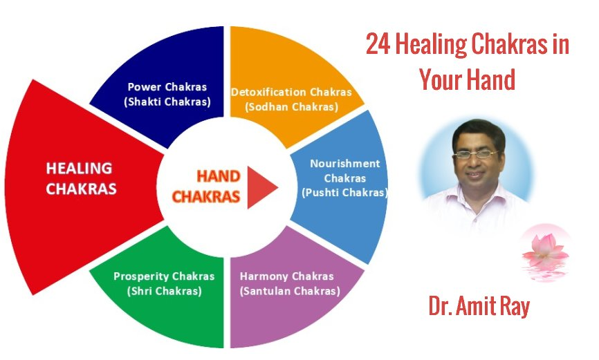 24 Healing Chakras in your Hand Amit Ray Teachings