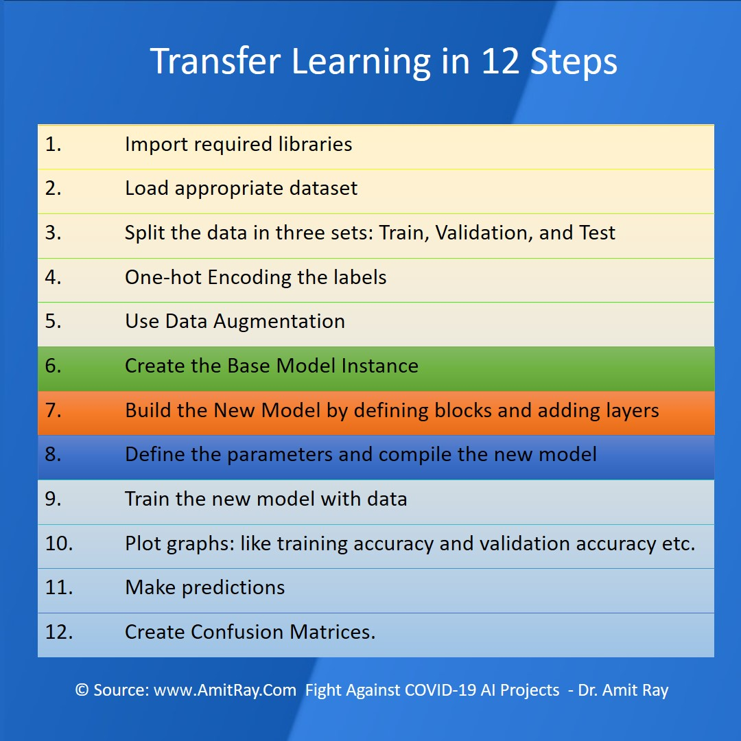 Transfer Learning in 12 Steps