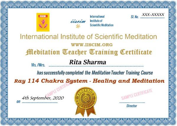 Ray 114 Chakras Healing and Meditation Course of Sri Amit Ray