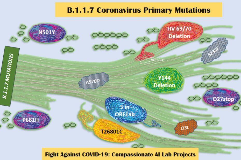 COVID New Variant B 117 Mutation Details