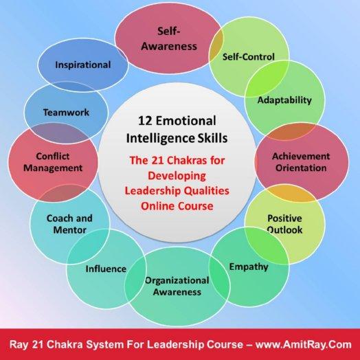 12 Emotional Intelligence Skills and the Ray 21 Chakra System