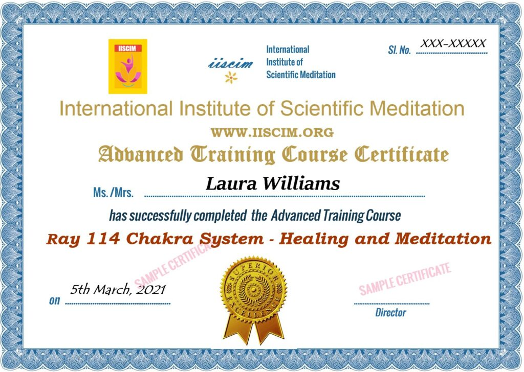 Ray 114 Chakra System Certificate Courses