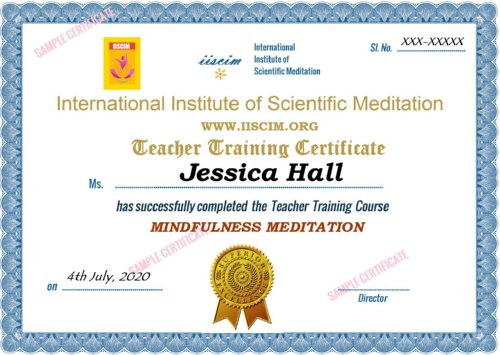 Mindfulness Meditation Certificate Course