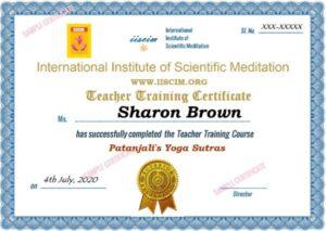 Patanjali Yoga Sutras Certificate Course