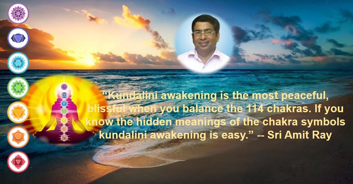 Kundalini awakening and chakra symbols